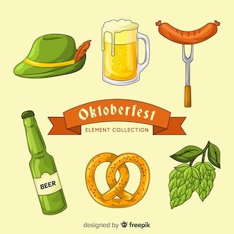 Oktoberfest elemento coleção mão desenhada