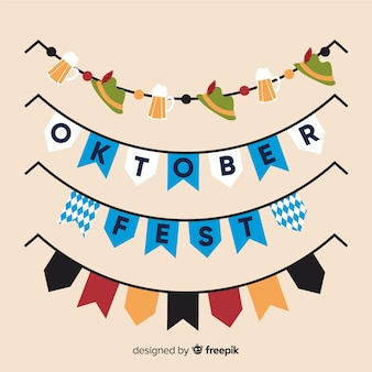 Oktoberfest escrito na guirlanda