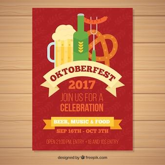 Oktoberfest festa com produtos alemães