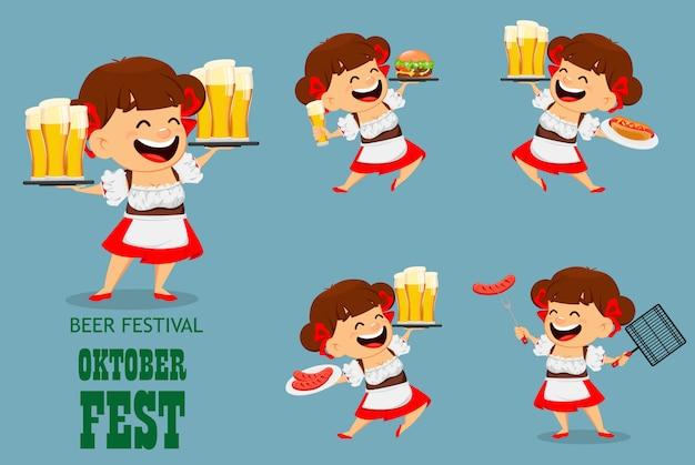 Oktoberfest, festival da cerveja. mulher engraçada