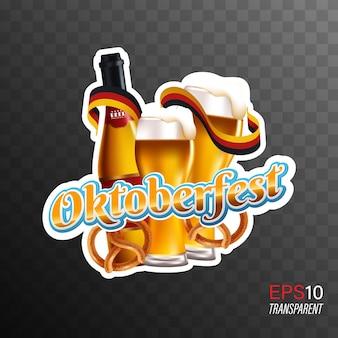 Oktoberfest festival de cerveja transparente