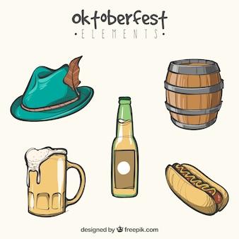 Oktoberfest, itens de eventos desenhados à mão