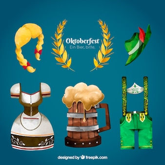 Oktoberfest, itens pintados à mão