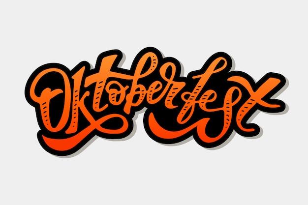 Oktoberfest lettering texto de pincel de caligrafia