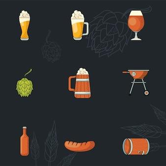 Oktoberfest nove ícones