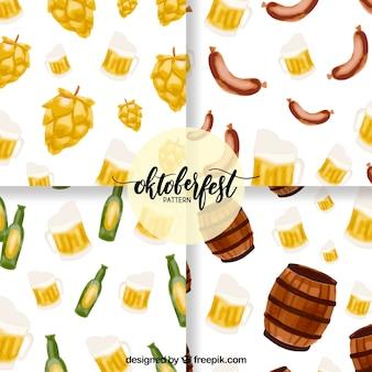 Oktoberfest, padrões pintados à mão
