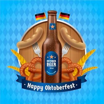 Oktoberfest realista com garrafa