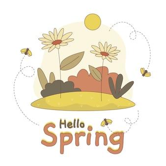 Olá artístico conceito de primavera