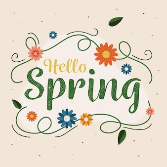 Olá artístico design de conceito de primavera