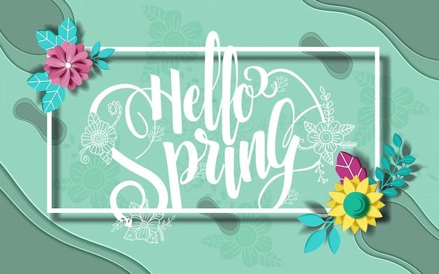 Olá banner de primavera. textura da moda. s