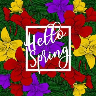 Olá banner de primavera.