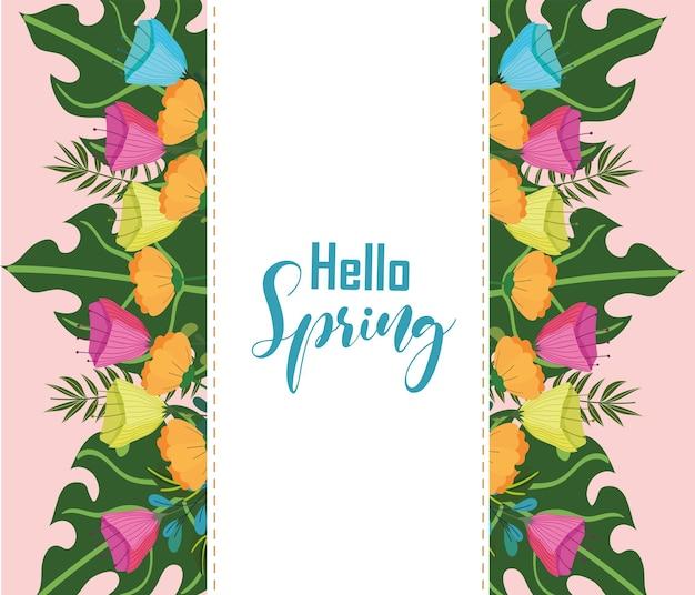 Olá banner de primavera