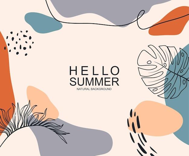 Olá, banner de verão. textura da moda.