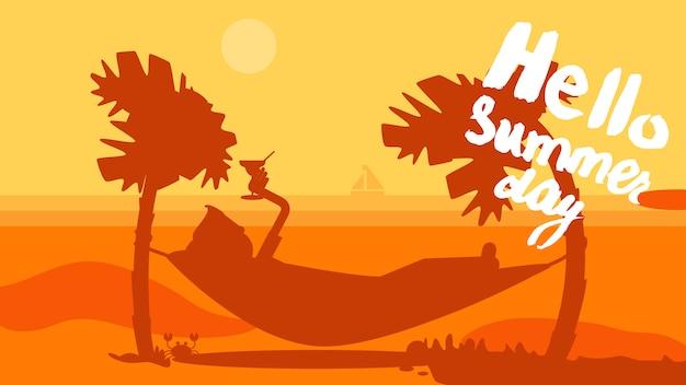 Olá banner de verão