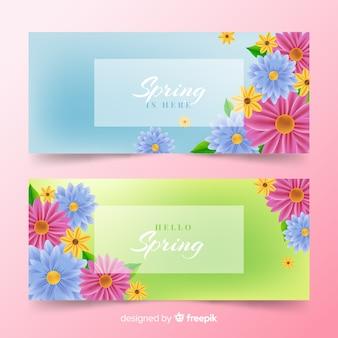 Olá banners de primavera