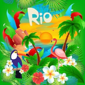 Olá carnaval brasileiro do rio