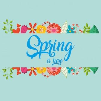 Olá cartão de primavera