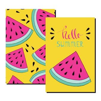 Olá cartão de verão.