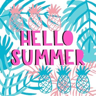 Olá cartão de verão