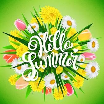 Olá cartaz de verão