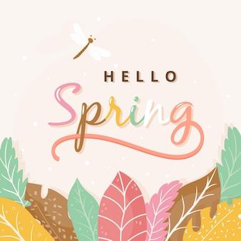 Olá conceito de primavera