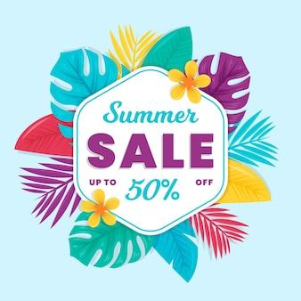 Olá conceito de venda de verão