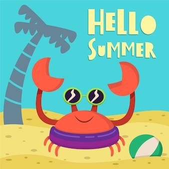 Olá conceito de verão