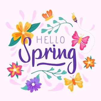 Olá conceito primavera