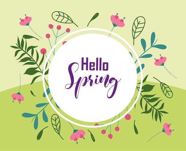 Olá crachá de primavera