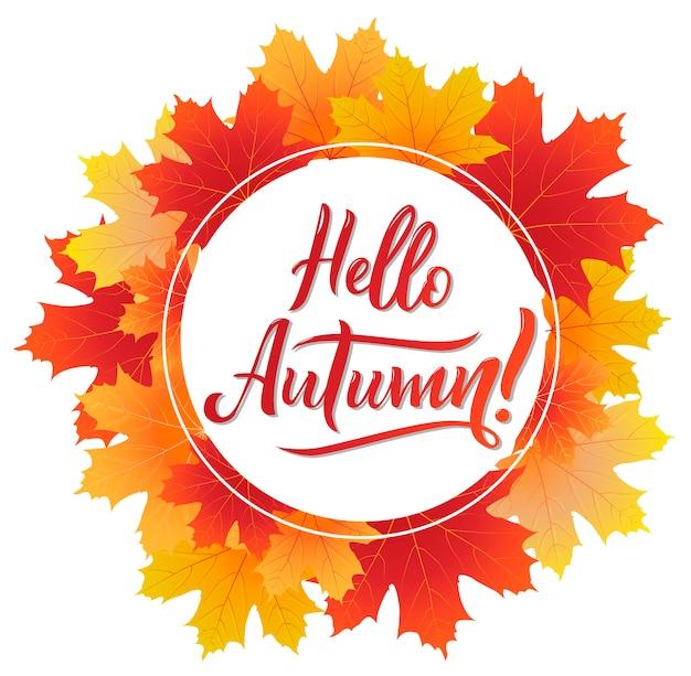 Olá design de cartaz outono