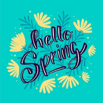 Olá design de letras de primavera