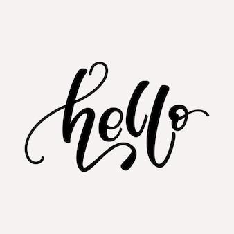 Olá design de letras