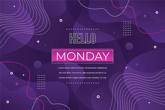 Olá, design de modelo de segunda-feira