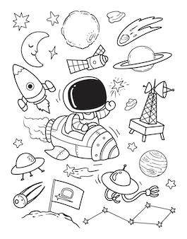 Olá doodle espacial