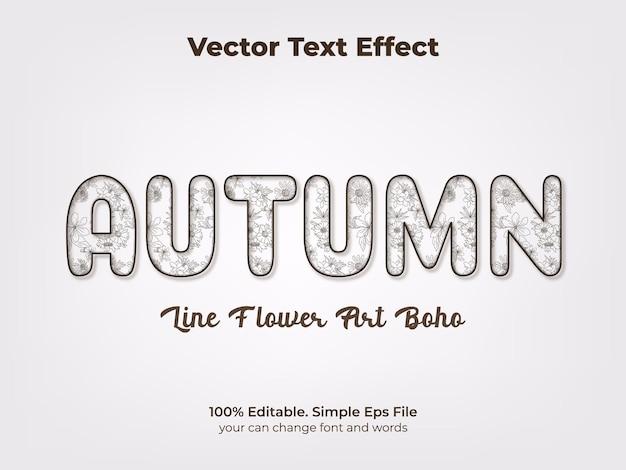 Olá, efeito de texto editável de outono