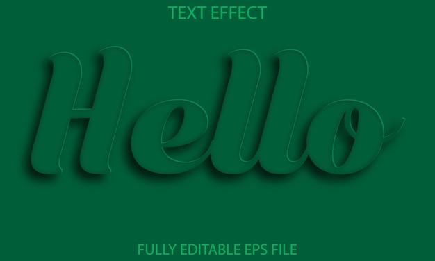 Olá efeito de texto totalmente editável