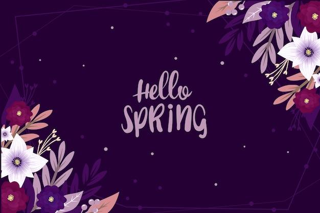 Olá floral conceito de primavera