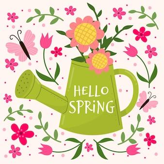 Olá floral primavera papel de parede