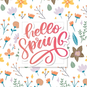 Olá flores da primavera