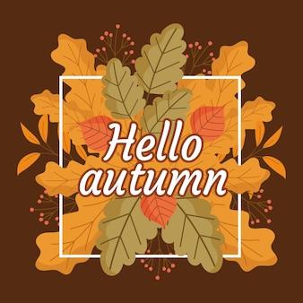 Ola fundo de outono