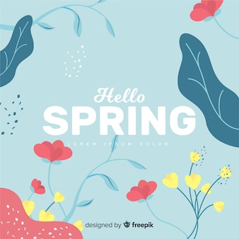 Olá fundo de primavera
