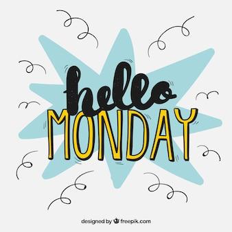 Olá fundo de segunda-feira