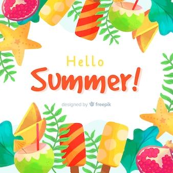 Olá fundo de verão