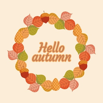 Olá guirlanda de outono