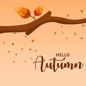 Olá ilustração de fundo outono
