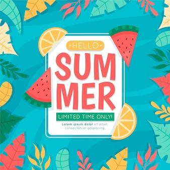 Olá ilustração de venda de verão