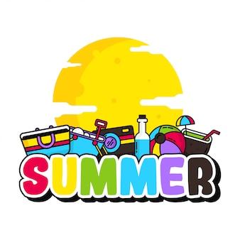 Olá ilustração de verão