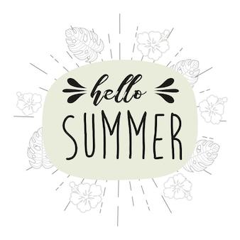 Olá ilustração vetorial de verão