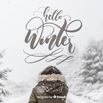 Olá letras de inverno