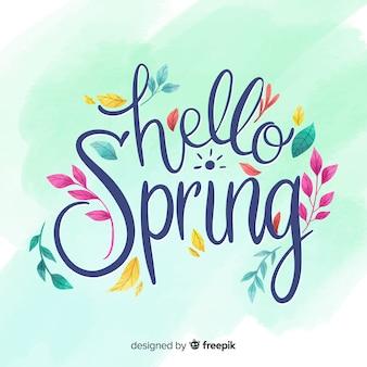 Olá letras de primavera